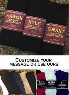 Give this Unique Groomsman & Usher Gift to your Wedding Party - Personalized Wedding Socks! www.etsy.com/shop/relaxeventstudio