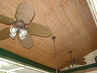For Use in the Basement!!! bamboo blinds cover ceiling in basement - Google Search