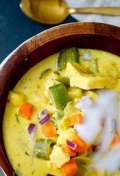 turmeric chicken veggie soup