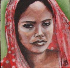 Flamenco Indien Peinture acrylique sur toile Marion BENOIT