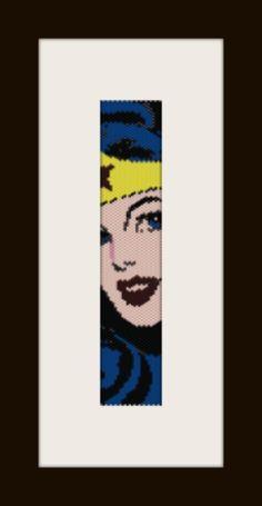 PDF Wonderwoman1 modèle bracelet en peyote stitch modèle par monjka