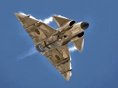 Saab 37 Viggen' by Juampi* Military Jets, Military Weapons, Military Aircraft, Fighter Aircraft, Fighter Jets, War Jet, Bomber Plane, Experimental Aircraft, Flying Boat
