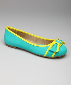 Look what I found on #zulily! Teal & Yellow Lee Lee Flat by b.o.c #zulilyfinds
