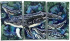Hawaiian Sea Turtle, Hawaiian Designs, Handmade Kitchens, Humpback Whale, City Photo, Wall Decor, Artwork, Tile, Shower