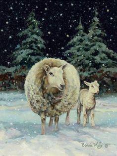 ♥~ Sheep in Snow ~♥                                                                       #sheep. #snow