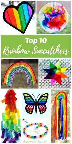 These easy rainbow crafts for kids are perfect for Saint Patrick's Day and year-round fun! Children love to make DIY rainbow suncatchers to hang in their bedroom windows and give as gifts. Make one today! Little Valentine, Valentines Diy, Diy And Crafts, Crafts For Kids, Diy Blanket Ladder, Rainbow Crafts, Kids Rainbow, Martha Stewart Crafts, Diy Headboards