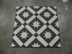 STARZ 3 Black Version   20x20 cm Portugese tegels/Cementtegels Collectie www.floorz.nl/portugese-tegels