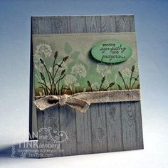 handmade card ... stamped wood grain background ... Serene Silhouettes ... neutrals .. collage stamped band ... luv the rustic country look ... great card!! ... Stampin'Up!