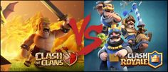 Clash Royale Vs Clash of Clans - Find which is a better game! Clash Royale & Clash of Clans difference. Clash Royale, Gemas Clash Of Clans, Barbarian King, Boom Beach, Rasheeda, Apps, Free Gems, The Clash, Game App