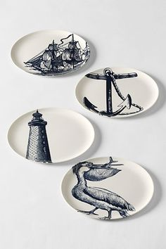 Letu0027s picnic on the beach (Scrimshaw Side Plates u0026 Dinner Plates from Landsu0027 End) & 17 Ideas for a Nautical-Themed Wedding | Nautical dishes Casual ...
