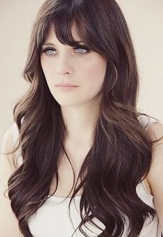 Long Hairstyles: Wavy Hair, Zooey Deschanel Style