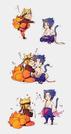 Neko and kitsune cuties
