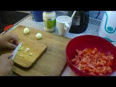 Rajčatový salát s tatarkou - YouTube Youtube, Make It Yourself, Food, Essen, Meals, Youtubers, Yemek, Youtube Movies, Eten