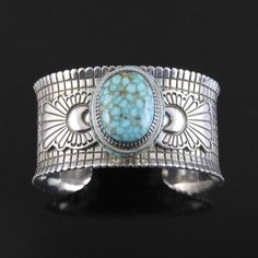 Wright's Indian Art: Spiderweb Turquoise Cuff by Jay Livingston