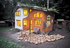 An owner-built, mortgage-free straw bale home on the Oregon Coast.