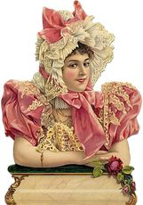 Large New embossed German Victorian lady in pink w roses and lace EF 7075 die cuts diecuts scraps sheet embellishments sheet ef 7177 Vintage Crafts, Vintage Ephemera, Scrapbook Images, Decoupage, Victorian Pictures, Victorian Women, Victorian Art, Children Images, Vintage Children