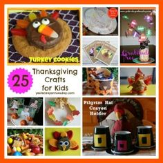 25 Thanksgiving Crafts for Kids Thanksgiving Treats, Thanksgiving Crafts For Kids, Family Thanksgiving, Thanksgiving Decorations, Kindergarten Crafts, Daycare Crafts, Preschool Ideas, Craft Projects For Kids, Kids Crafts