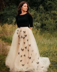 Waist Skirt, High Waisted Skirt, Tulle, Butterfly, Skirts, Fashion, High Waist Skirt, Moda, La Mode