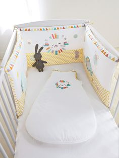 #cotbumper  Get this at a 40% discount  The little mice dance when the lion goes to sleep! This adorable and practical cot bumper will turn baby's cot into a soft and cosy cocoon.