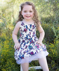 Look at this Blue Floral A-Line Dress - Toddler & Girls on #zulily today!