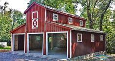 Prefab barn homes 159 best randalls modern house part 12 barn house images Prefab Barn Homes, Prefab Garages, Pole Barn Homes, Pole Barns, Metal Garages, Cabin Homes, Car Barn, Barn Garage, Garage Plans