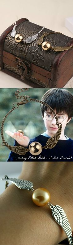 Harry Potter Golden Snitch Bracelet! Click The Image To Buy It Now or Tag Someone You Want To Buy This For. #HarryPotter