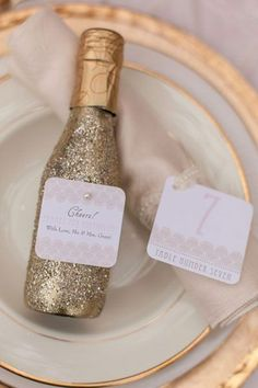 Where to Find Mini Champagne Bottle Wedding Favors | Pinterest ...
