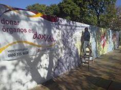 Mural realizado por una estudiante de la #UNSJ para concientizar sobre la donación de órganos.