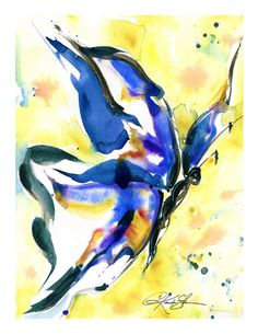 Butterfly Song No. 095 ... art archival Giclée print by Kathy Morton Stanion  KathyMortonStanion.etsy.com