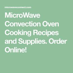 convection microwave oven recipes pdf
