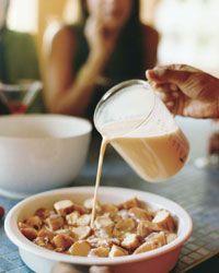 Krispy Kreme Bread Pudding with Espresso Whipped Cream Recipe on Food & Wine