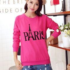 Eiffel Tower sweatshirt for women Paris letter design sweatshirts cheap