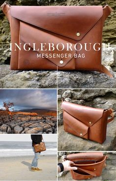 Ingleborough leather Messenger Bag