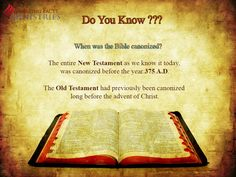 Do you know? - When was the Bible canonized?