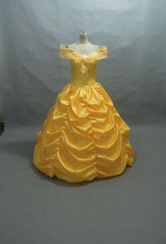 Disney Dress Beauty and Beast Belle Costume Adult Size 6 8 10 12 14 16 | eBay : handmade belle costume  - Germanpascual.Com