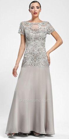 Drop waist evening dresses by Sue Wong