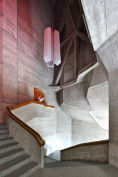 Second Goetheanum. Designed by Rudolf Steiner. Dornach, Switzerland. 1928. Cast concrete.