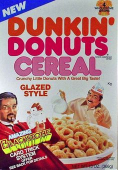 For future fatties: Dunkin' Donuts Cereal | 25 Cereals From The '80s You Will Never Eat Again