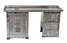 Urban Remains Chicago :: refinished c. 1930's american vintage industrial heavy gauge steel modular milling machine table