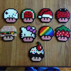 Super Mario mushrooms perler beads