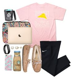 """Kinda cluttered but that basically describes me life rn"" by valerienwashington on Polyvore featuring Honora, Hanes, NIKE, Vera Bradley, UGG Australia, Fitbit, Lilly Pulitzer, women's clothing, women and female"