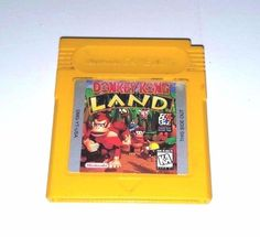 Original Gameboy Game GBC GBA SP DONKEY KONG LAND 30 Banana Grabbing Levels Fun