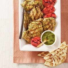 Grilled Spicy Cilantro Chicken Recipe, Southern Living April 2013 issue.