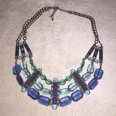 Macy's Adjustable Necklace NWOT. Various blue tones. Lightweight. Macy's Jewelry Necklaces