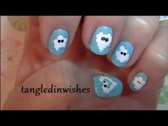 Nail Art For Beginners:  Cute Puffy Clouds