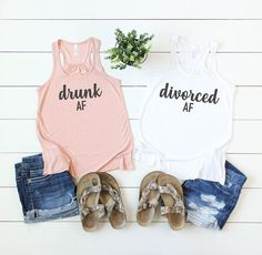 just divorced shirt - divorce support shirts - divorce party shirts - divorce vacation shirts - divorce announcement shirt - divorce party by on Etsy Bridal Party Shirts, Bachelorette Party Shirts, Braut Shirts, Made Of Honor, Divorce Party, Bridesmaid Shirts, Vacation Shirts, Announcement, Party Planning