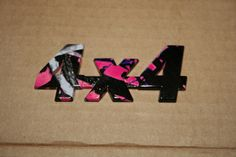 4 X 4 Vehicle Emblem in Muddy Girl by DownSouthGraphics on Etsy, $7.00..... Need this on my truck now