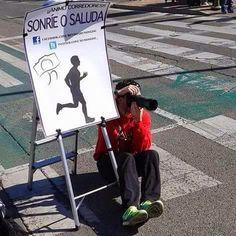 ¡¡¡Sonríe o saluda!!! Directo desde la maratón de Sevilla a Media Maratón de Riotuerto, también nos acompañara el 12 de Abril en La Cavada.