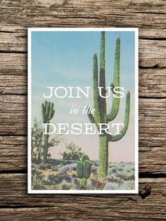 Join Us in the Desert Postcard Save the Dates // by factorymade