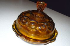 Vintage Moon and Stars Glass Cheese Dish by OffTheChainVintage, $11.00